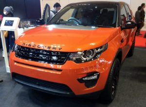 Land Rover Discovery au salon de l'auto